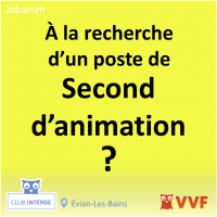 Second d'animation club de vacances